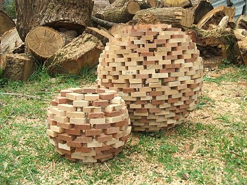 Esferas de madeira