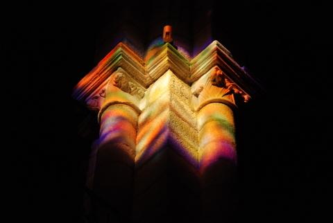 A luz do templo